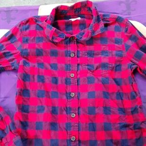 Cat and Jack long sleeve flannel shirt